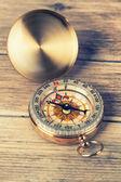 Antique compass — Stock Photo