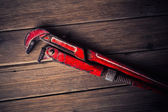 Vintage pipe wrench — Stock Photo