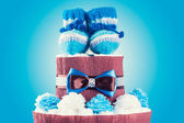 Cake made from diapers — Stock Photo