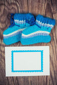 Knitted baby socks — Stock Photo