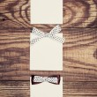 Paper sheets with bows — Stock Photo