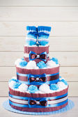 Cake from diapers — Stok fotoğraf