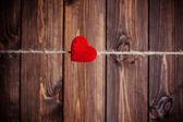 Rode stof hart — Stockfoto