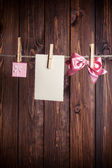 Objects on clothesline — Foto de Stock