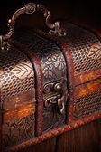 Closed treasure chest — Stock Photo