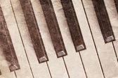 Vintage piano keyboard — Stock Photo