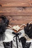 Retro vestido y accesorios — Foto de Stock