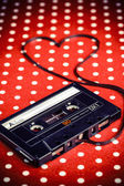 Audio cassette with magnetic tape  — 图库照片