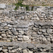 Stone terrace wall. - Stock Photo