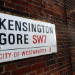 Kensington Gore, City of Westminter sign — Stock Photo #25498013