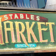 Stock Photo: Stables Market sign , London