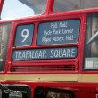 Stock Photo: Red bus, London
