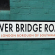 London Bridge road street sign in London, England — Stock Photo