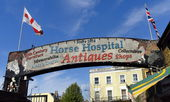 Horse Hospital Antiques Sign, London — Stock Photo