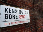 Kensington Gore, City of Westminter sign — Stock Photo