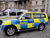Metropolitan Police car, London — Stock Photo