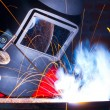 Working welder - Foto Stock