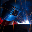 Working welder — Foto de Stock