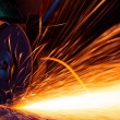 Royalty-Free Stock Photo: Sparks while grinding iron