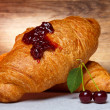 Cherry croissant — Stock Photo #13758985