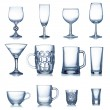 Clean empty glassware collection isolated — Stock Photo