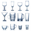 Stock Photo: Clean empty glassware collection isolated