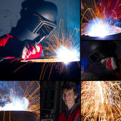 Welding collage — Foto Stock