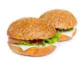 Two sandwiches — Stock Photo