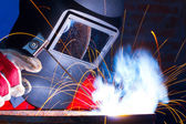 Working welder — Fotografia Stock