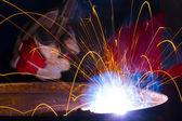 Welding sparks — Stock Photo
