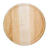 Clean oak cutting board isolated on white — Stock Photo