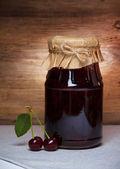 Cherry jam — Stockfoto