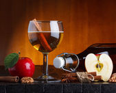 Apple cider still life — Stock Photo