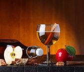 Apple cider stilleben — Stockfoto