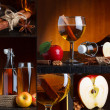 Stock Photo: Apple cider beautiful collage