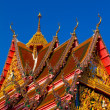Detail of a buddhist monastery roof, Thailand — Stock Photo