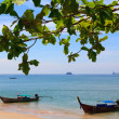 Traditional longtail boats at Andaman sea, Thailand — Stock Photo