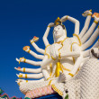 Big Guan Yin statue at Wat Plai Laem Temple, Koh Samui, Thailand — Stock Photo