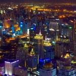 Bangkok city center at twilight — Stock Photo