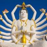 Big Guan Yin statue at Wat Plai Laem Temple, Koh Samui, Thailand — Stock Photo