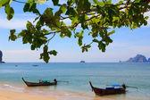 Traditional longtail boats at Andaman sea, Thailand — Stock Photo