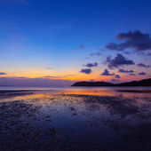Sunset over the sea, long exposure — Stock Photo