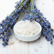 Stock Photo: Sesalt with lavender