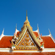 Detail of a typical buddhist monastery roof — Stock Photo