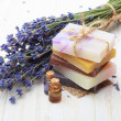 Natural handmade soap with lavender — Stock Photo #38841521