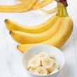 Sliced banana — Stock Photo