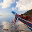 Fisherman small wooden boat in Thailand — Stock Photo #38841873