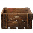 Stock Photo: Vintage empty wooden crate