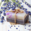 Natural handmade soap with lavender — Stock Photo #38842047