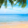 Tropical beach and Andaman sea, Thailand — Stock Photo
